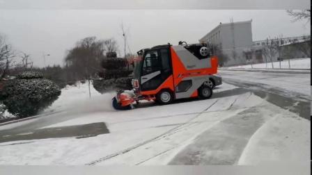 扫路机多种工况除雪作业