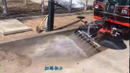 QTH8501扫路机路面冲洗+吸扫作业视频