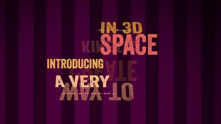 AE脚本-3D空间文字翻转MG动画运动排版AEscripts CircusMonkey Win/Mac