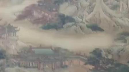 中国宫廷历史名人古字画微影(2)袁耀款《蓬莱仙境图》界画珍品,