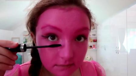 国外时尚美妆:小姐姐化的粉红色小马驹,看着真是太可爱了