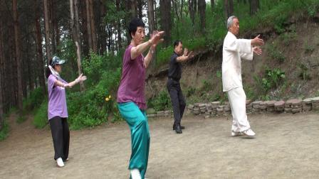 杨氏28式太极拳80多岁老人示范表演