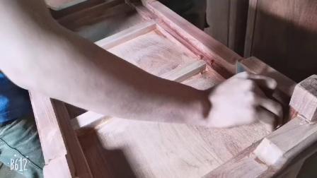 王义红木家具 手工刮磨实拍 济宁纯手工制作的红木家具