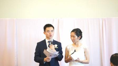 杨航波沈叮咚8·25结婚典礼(美国-洛杉矶)隆重举行