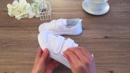 君晓天云儿童小白鞋男童白球鞋女童体操鞋学生运动鞋幼儿园白色布鞋帆布鞋