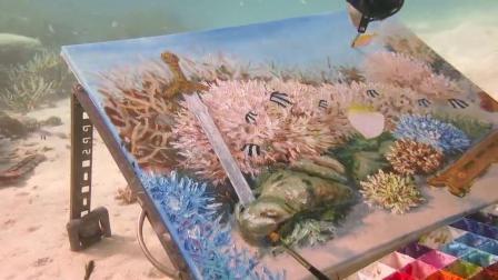 Olga Belka水中画家,11-21到24,深圳画展,实力美女画家