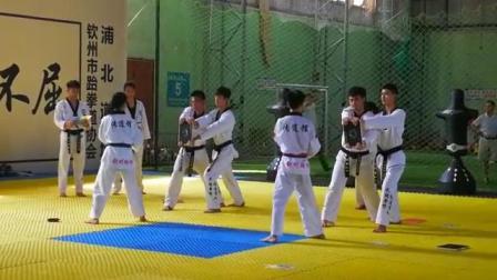 中國式跆拳道J系統訓練(浦北黑帶少年晉段擊破)