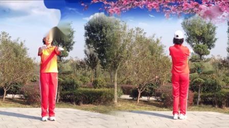 襄阳广场舞健身操第八套第3节《神奇草原》竹子演示