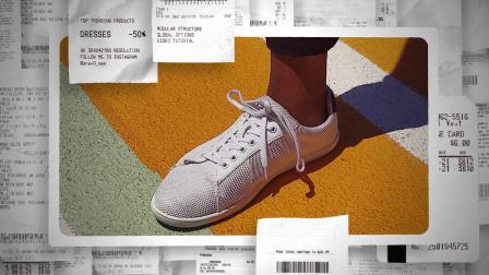 促销短视频购物清单电子相册图文展示ae模板