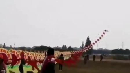 巨龙风筝飞上天,太壮观了!