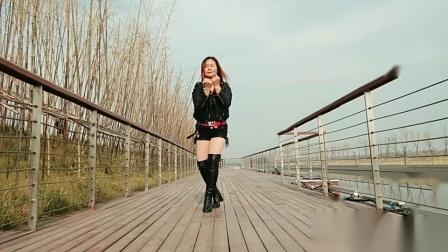 南阳红泥湾小娟广场舞《DJ站台 + 路灯下的小姑娘 》