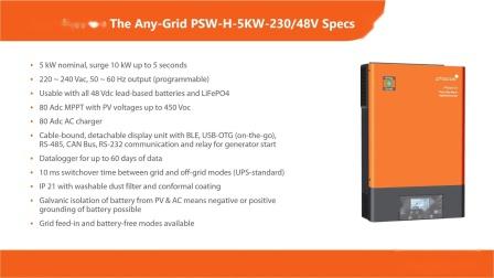 Phocos Any-Grid 230V混合充电型逆变器网络公开课--第1部分