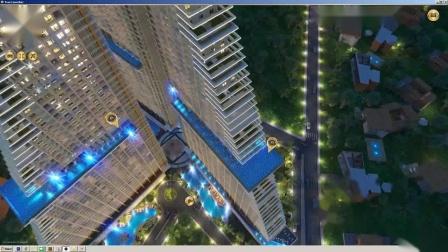 泰国芭提雅玛丽娜金海湾公寓项目3D漫游