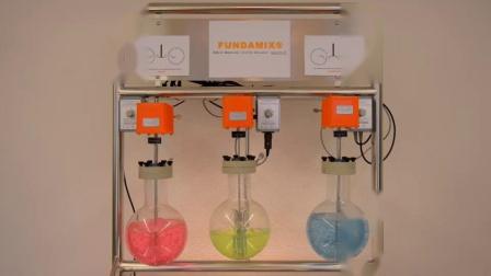 FUNDAMIX® 振动混合器,液体通过振动而非搅拌进行混合