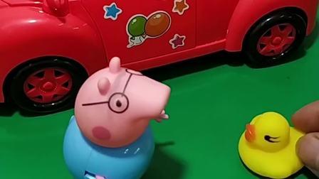 猪爸爸买了新车,要带大家兜风去,僵尸也想去兜风