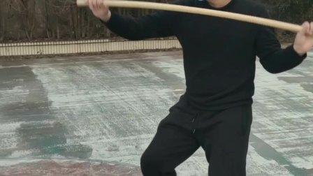 南昌八极拳传人唐强老师演练十三把短棍