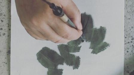 葡萄葉子藤蔓的畫法
