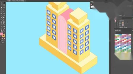 【AI立体插画】第07课上:建筑绘制方法