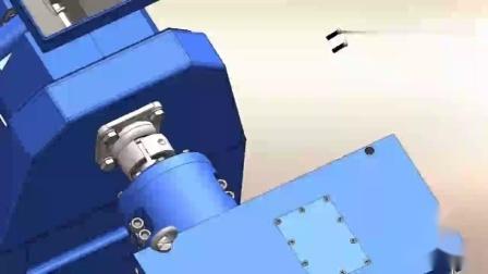 塑料管材挤出机装配动画.mp4