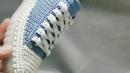 新的颜色来报到! 小芬手工钩鞋