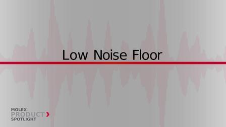莫仕焦点产品Noise Cancellation Sensors噪音消除传感器