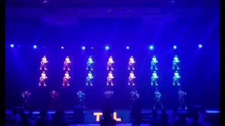 创意迈克尔杰克逊舞蹈 LED光纤发光表演服无线控制编程.mp4