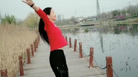 金灿灿广场舞《桥边姑娘随拍》