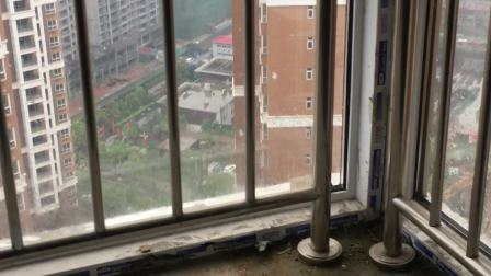 20200411下雨天多功能房飘窗漏水