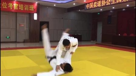曾庆东、李杨柔道技术动作示范