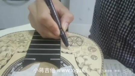 小蒋吉他 手绘复古古典吉他 疗愈系