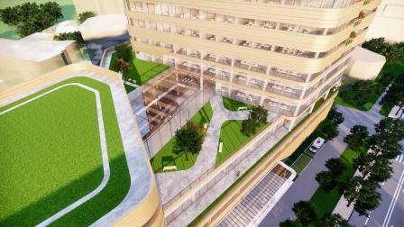 Enscape建筑动画小试-某医院室外动画-镜头上升