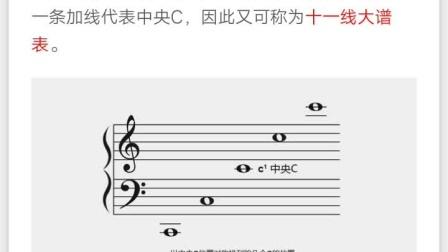 五线谱识谱 第一课  乐理与单音练习1