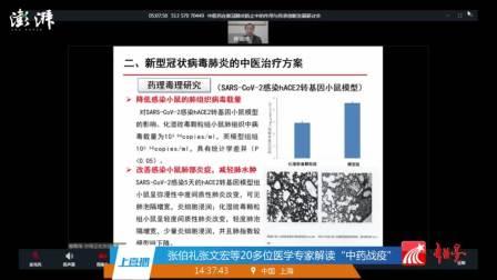 中医药在新冠肺炎防治中的作用与传承创新发展研讨会 04242020