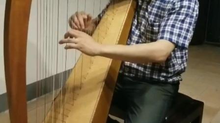 广州诗蕴竖琴 34弦凯尔特小竖琴 手工制作