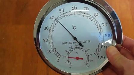 壁挂式家用不锈钢温湿度计TH600