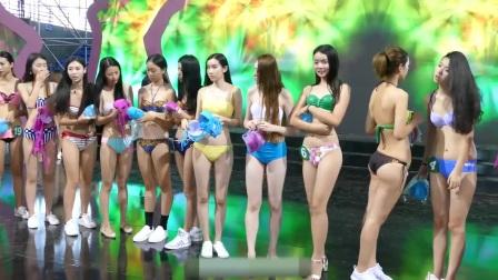 中国比基尼模特内部彩排
