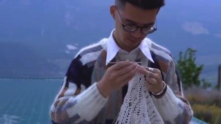 高手在民间钩针编织毯子视频