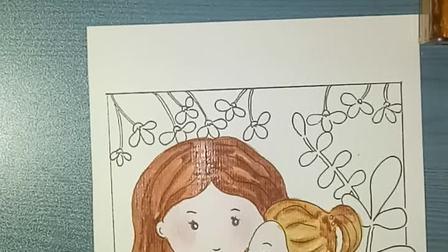 《拥抱》母亲节送给妈妈的创意画