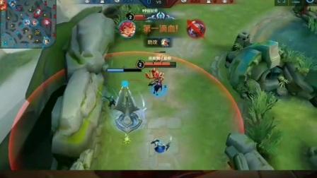 花木兰精彩击杀英雄。