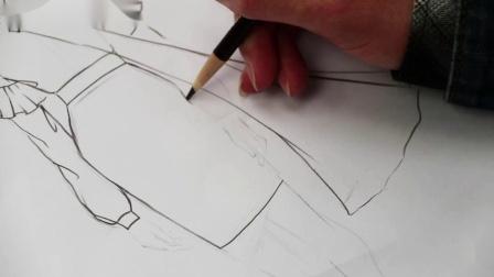 2、一步裙效果图绘制