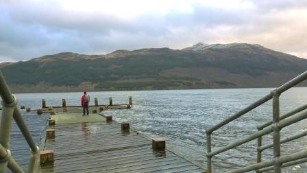 拥抱自然!苏格兰罗梦湖边,台风来袭前的的林地行走...