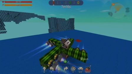 迷你世界:大表哥用8个喷射器,制造超级陀螺,威力巨大.mp4