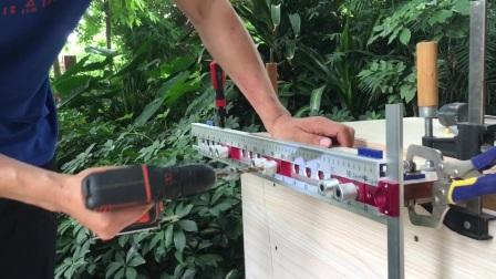 U形隐形连接开槽钻孔乐扣型二合一隐形连接件电木铣打槽开孔