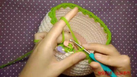 七朵手作 第25集 郁金香水桶手提包毛线编织教程