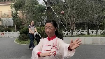贞珍晨练佛拳