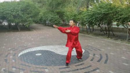 八卦掌名家董孝纯演示中国武术八卦掌段位拳(三段)