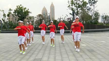 鬼步舞《一个家一个妈》演示:浙江普陀飞之燕健身队