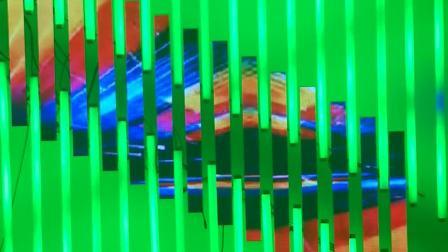 led彩云管加LED斑马屏效果