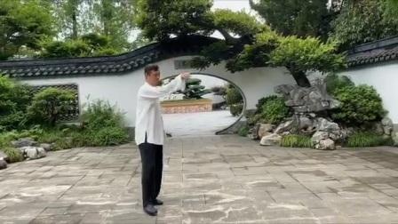 陈氏心意混元太极拳38式炮锤。