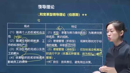 2020中级经济师【人力资源管理】领导理论(二)